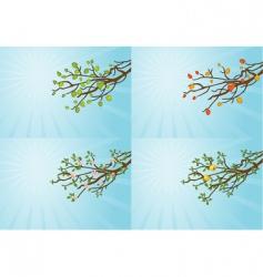 season tree vector image vector image
