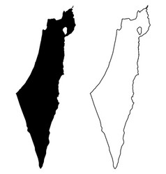 Simple only sharp corners map israel including vector