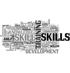 Skill word cloud concept vector