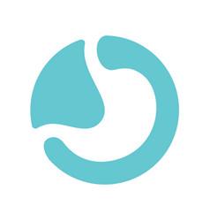 Stomach logo vector