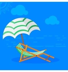 sun bed on beach vector image