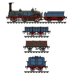 The historical steam train vector