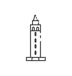 thin line berkeley tower icon vector image
