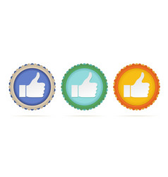 thumb up circles vector image