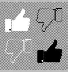 thumbs up thumbs down on isolated background vector image