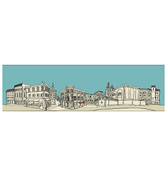 Townscape Sketch vector