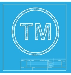 Trade mark sign White section of icon on vector