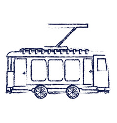 Tram transport isolated icon vector
