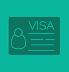 travel visa glyph color icon vector image