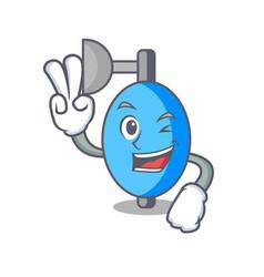 Two finger ambu bag character cartoon vector