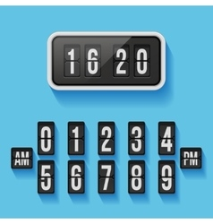 Wall flap counter clock template vector