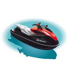 Water bike vector image
