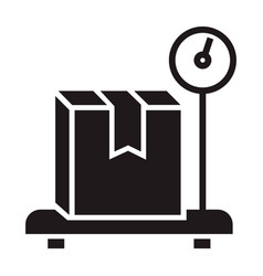 weight delivery box icon simple style vector image