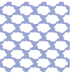 white clouds weather art seamless pattern vector image