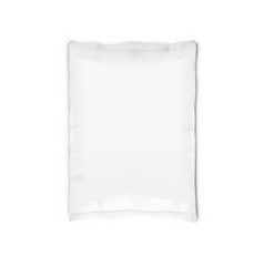 white llaminated clear full paper bag isolated vector image
