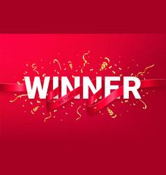 winner celebrating banner vector image