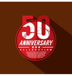 50 Years Anniversary Celebration Design vector image vector image