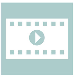 a frame from a movie the white color icon vector image