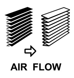 air filter black symbol vector image vector image