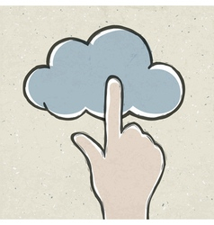 hand clicking cloud vector image vector image
