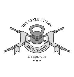 Iron sports logo emblem vector image vector image