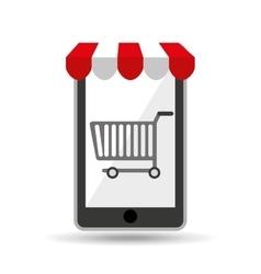 online shopping cart design vector image vector image
