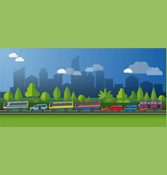 public transportt vector image