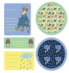 Rain sticker set vector image