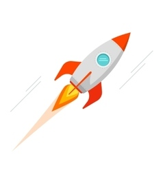 Rocket spaceship icon isolated vector image