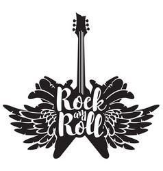 with guitar wings and feathers vector image vector image