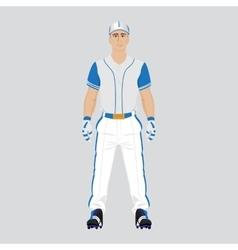 Baseball player uniform vector image