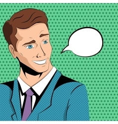 Comic man says vector image