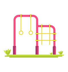 Different attractions on playground vector