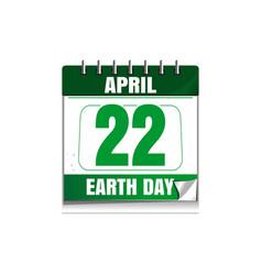 earth day wall calendar 22 april vector image vector image