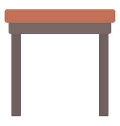 Brown wood coffee table vector image vector image