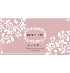 invitation card vintage style vector image