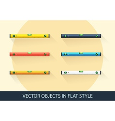 Set of level tool in a flat style with shadow vector image vector image