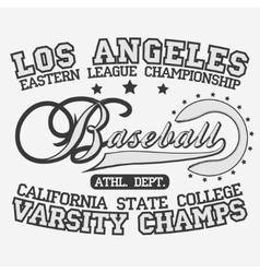 Baseball Logotype vector image vector image