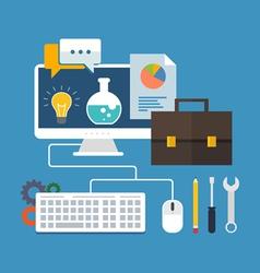 Business development concept Flat design stylish vector image