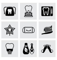 Dental icon set vector image vector image
