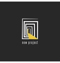 Development of a new project logo design abstract vector image