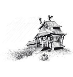 halloween house black vector image