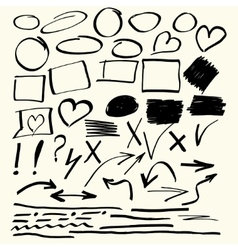 Hand drawn abstract elements vector image