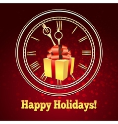 Happy Holidays Theme vector image vector image