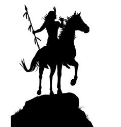 Horseback indian vector