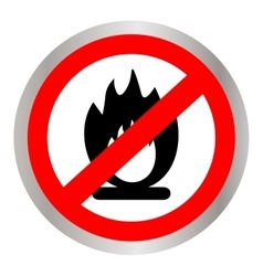 No fire flame sign icon fire symbol stop fire vector