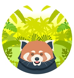Red Panda on the Jungle Background vector image vector image