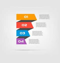 ribbon infographic concept template with 5 vector image vector image