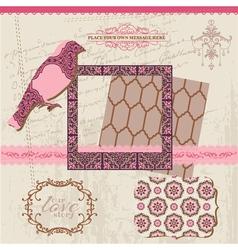 Scrapbook Design Elements - Vintage Tiles vector image vector image