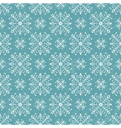 Seamless pattern with stylized snowflakes vector image